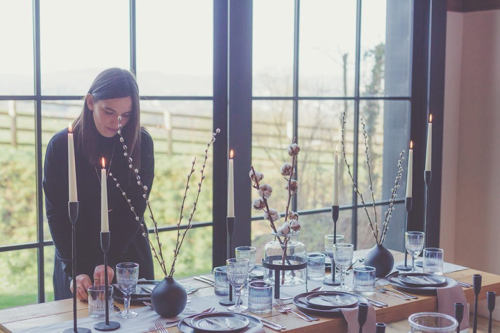 Stacey setting up tables | Perspectives Photography